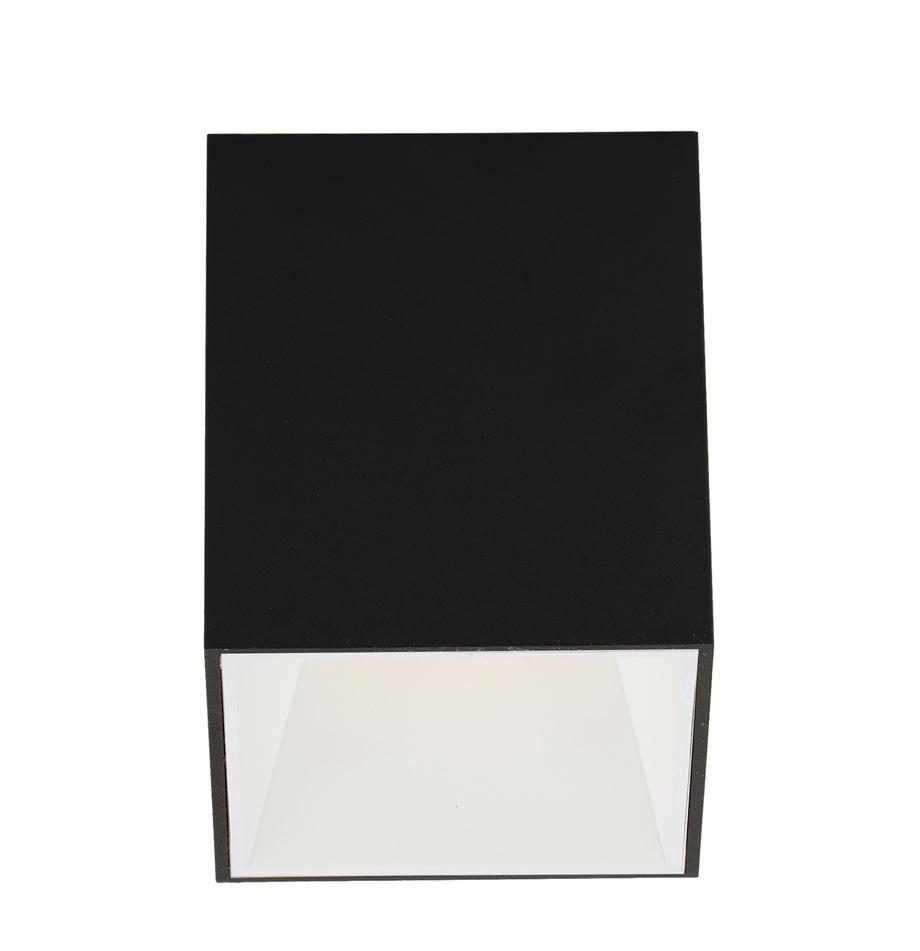 LED plafondspot Marty, Lampenkap: gepoedercoat metaal, Zwart, wit, 10 x 12 cm
