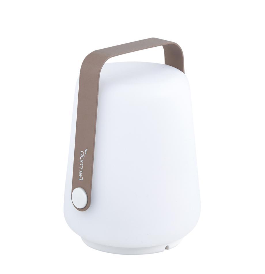 Mobiele outdoor LED lampen Balad, 3 stuks, Lampenkap: polyethyleen, Bruin, Ø 10 x H 13 cm