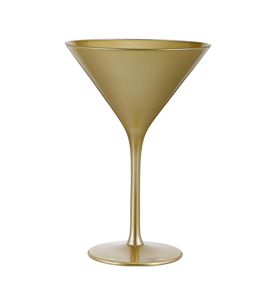 Bicchiere cocktail in cristallo Elements 6 pz, Cristallo rivestito, Dorato, Ø 12 x Alt. 17 cm