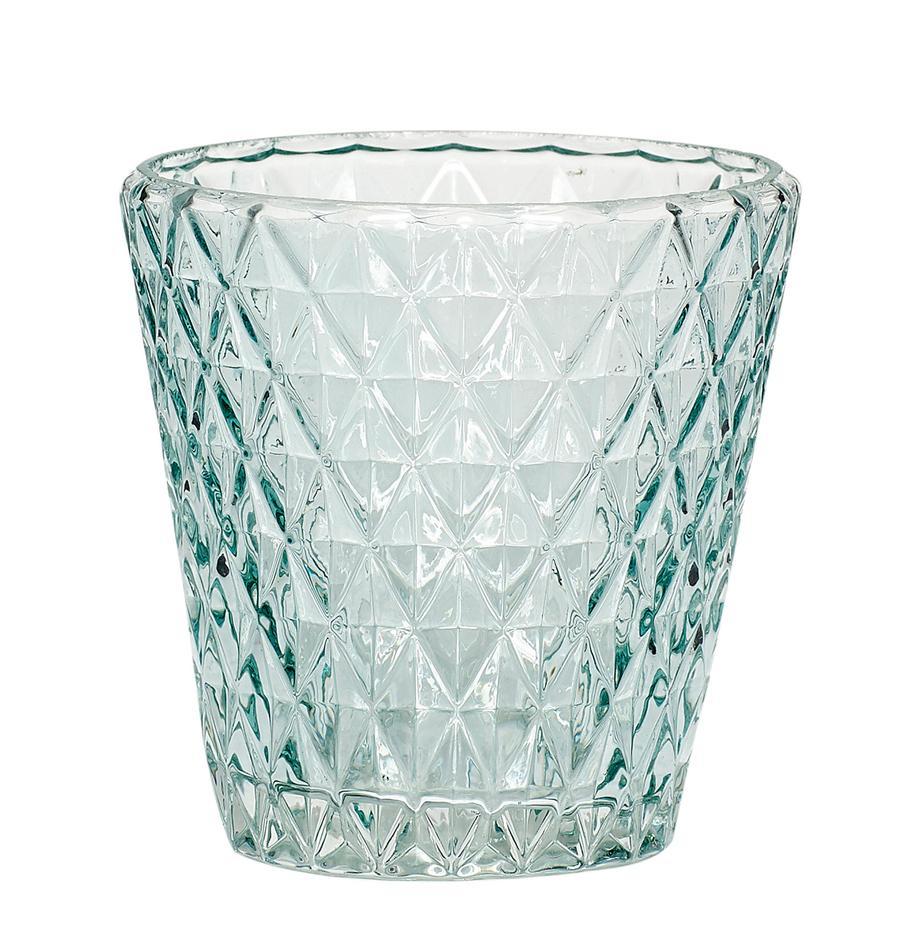Windlicht Elsa, Glas, Lichtblauw, transparant, Ø 10 x H 10 cm