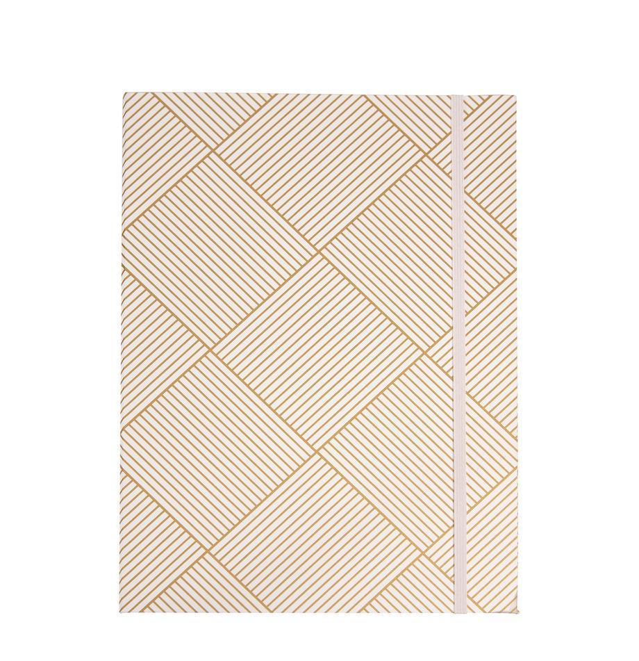 Sammelmappen Paulina, 2Stück, Goldfarben, Weiß, 23 x 32 cm
