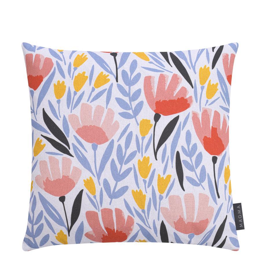 Gemusterte Kissenhülle Modern Flowers, Webart: Halbpanama, Mehrfarbig, 40 x 40 cm