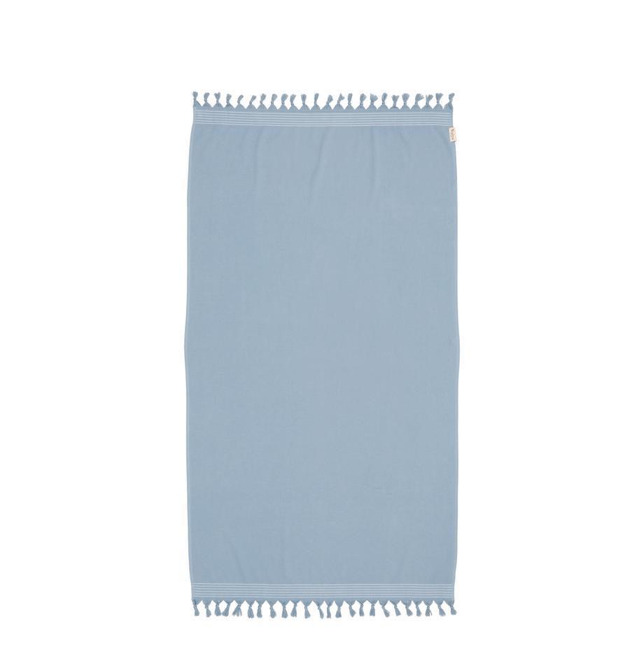Fouta Soft Cotton, Niebieski, biały, S 100 x D 180 cm