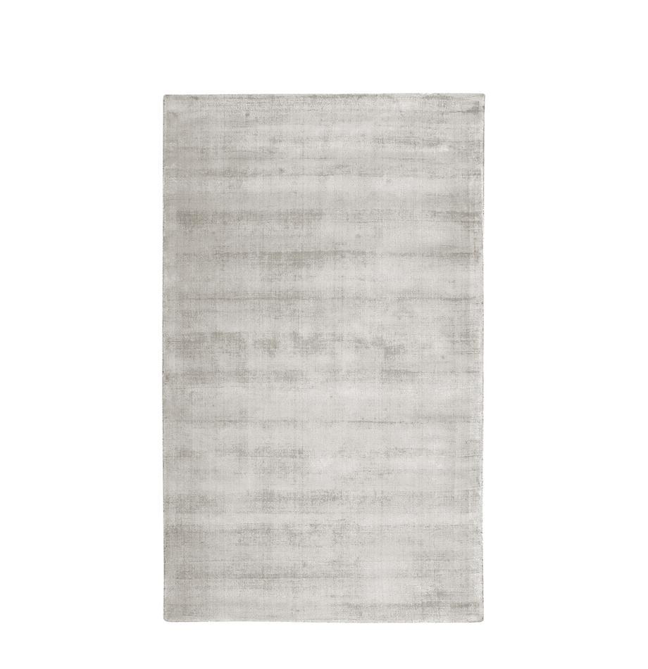 Tappeto in viscosa color grigio chiaro-beige tessuto a mano Jane, Vello: 100% viscosa, Retro: 100% cotone, Grigio chiaro-beige, Larg. 90 x Lung. 150 cm (taglia XS)