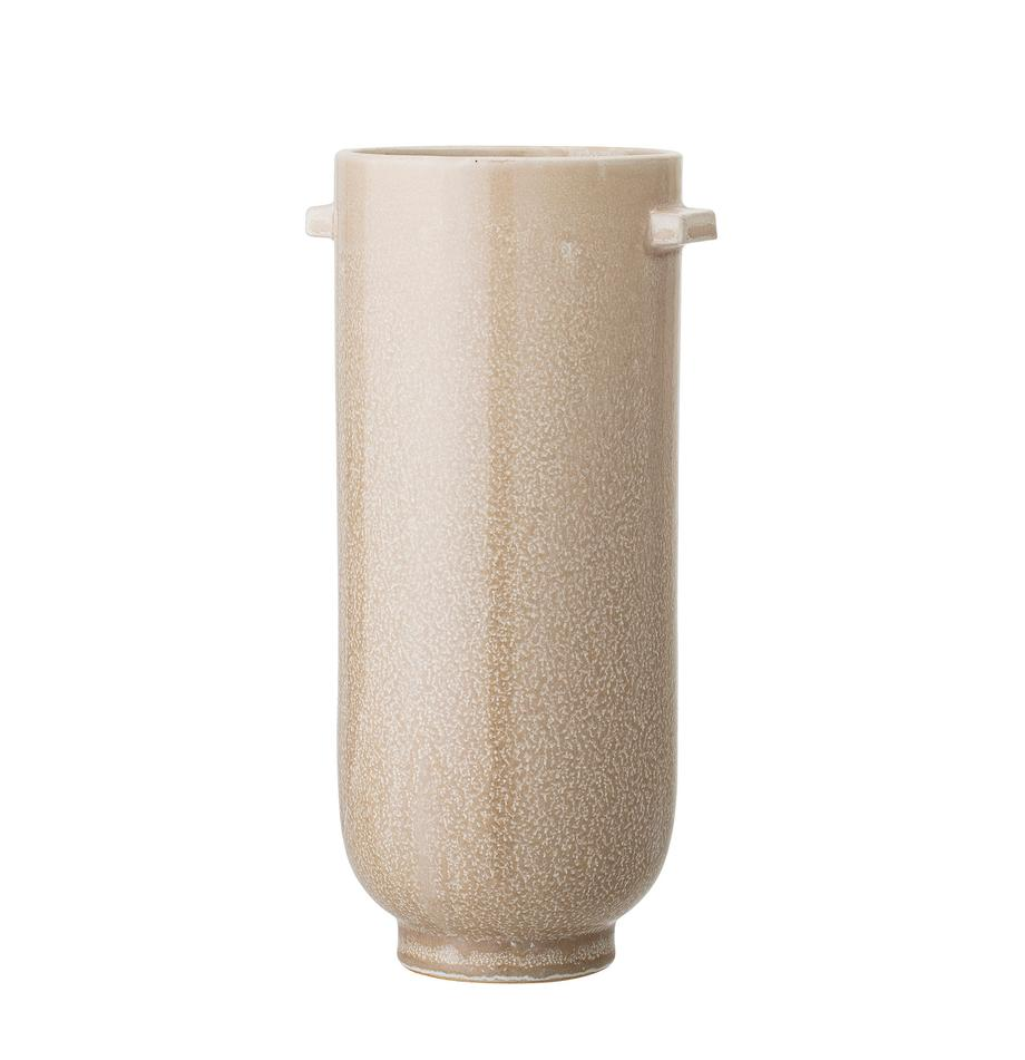 Ręcznie wykonany wazon z kamionki Lena, Kamionka, Beżowy, Ø 13 x W 26 cm