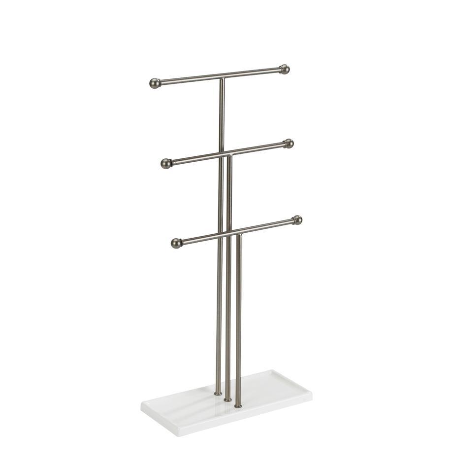 Porta joyas Trigem, Estructura: metal, niquelado, Níquel, blanco, An 23 x Al 48 cm