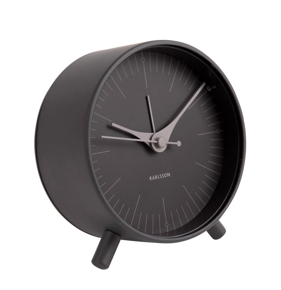 Sveglia Index, Metallo rivestito, Nero, grigio, Ø 11 cm