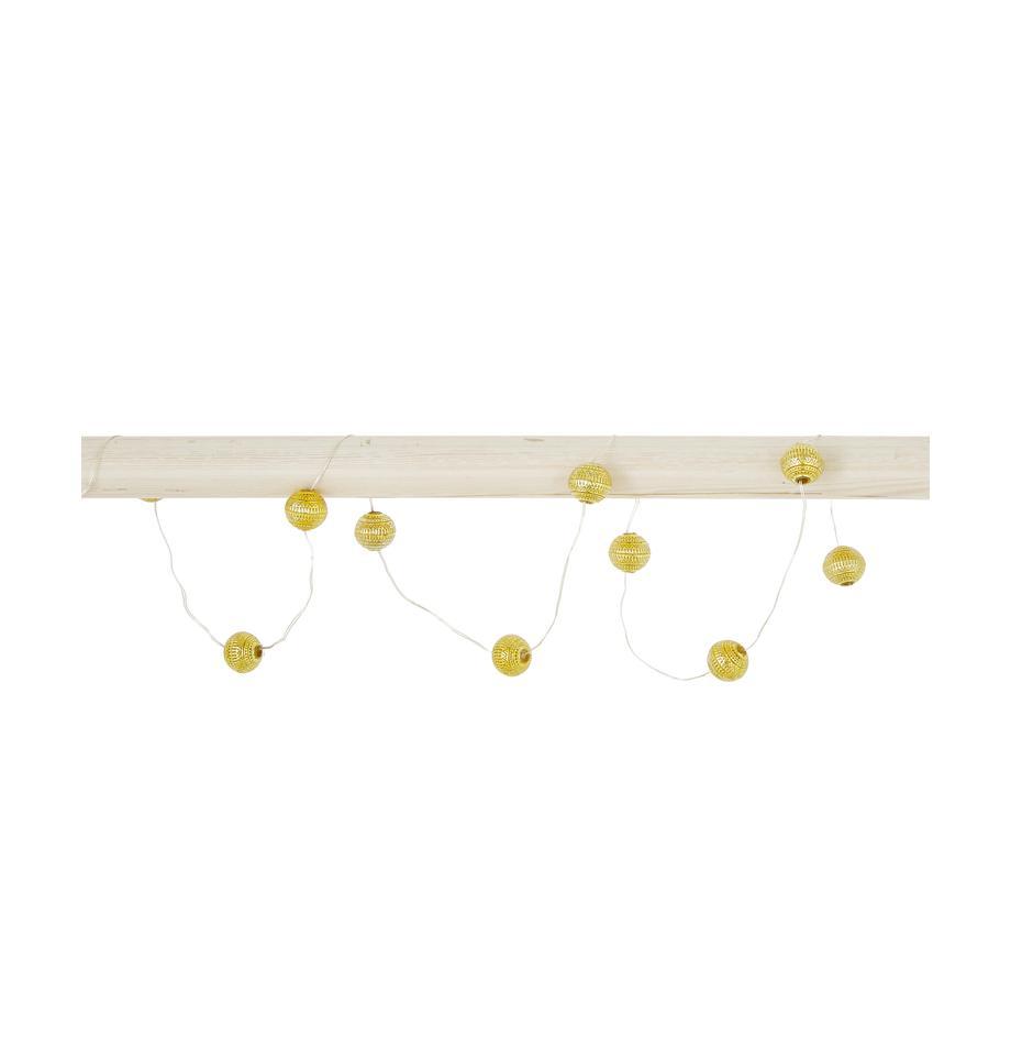 Ghirlanda a LED Beads, 120 cm, Paralume: acrilico, Dorato, Lung. 90 cm