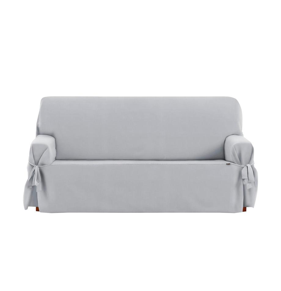 Funda de sofá Levante, 50%algodón, 50%poliéster, Gris, 2 plazas (180 x 110cm)