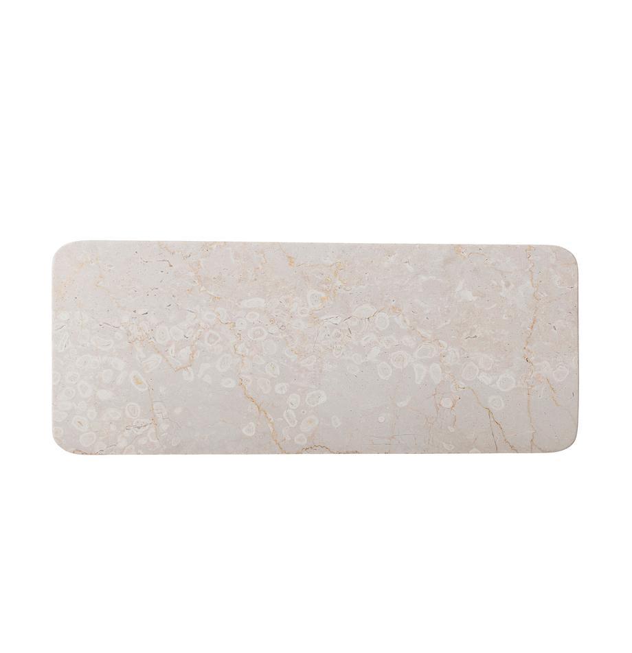 Piatto da portata in marmo Maya, Marmo, Beige, Lung. 38 x Alt. 3 cm