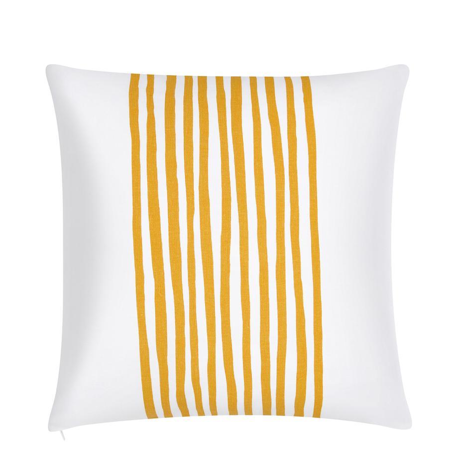 Poszewka na poduszkę Corey, 100% bawełna, Żółty, biały, S 40 x D 40 cm
