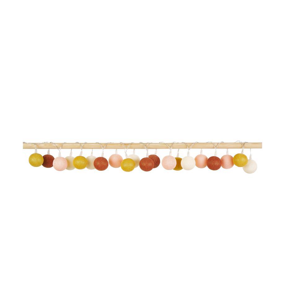Girlanda świetlna LED Colorain, D 378 cm, Kremowy, blady różowy, żółty, rdzawy, D 378 cm