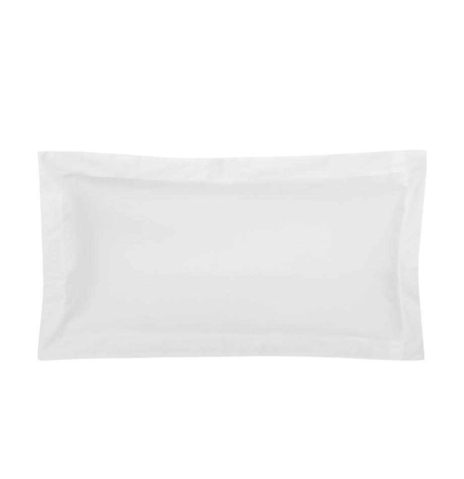 Funda de almohada de satén Premium, Blanco, An 45 x L 85 cm