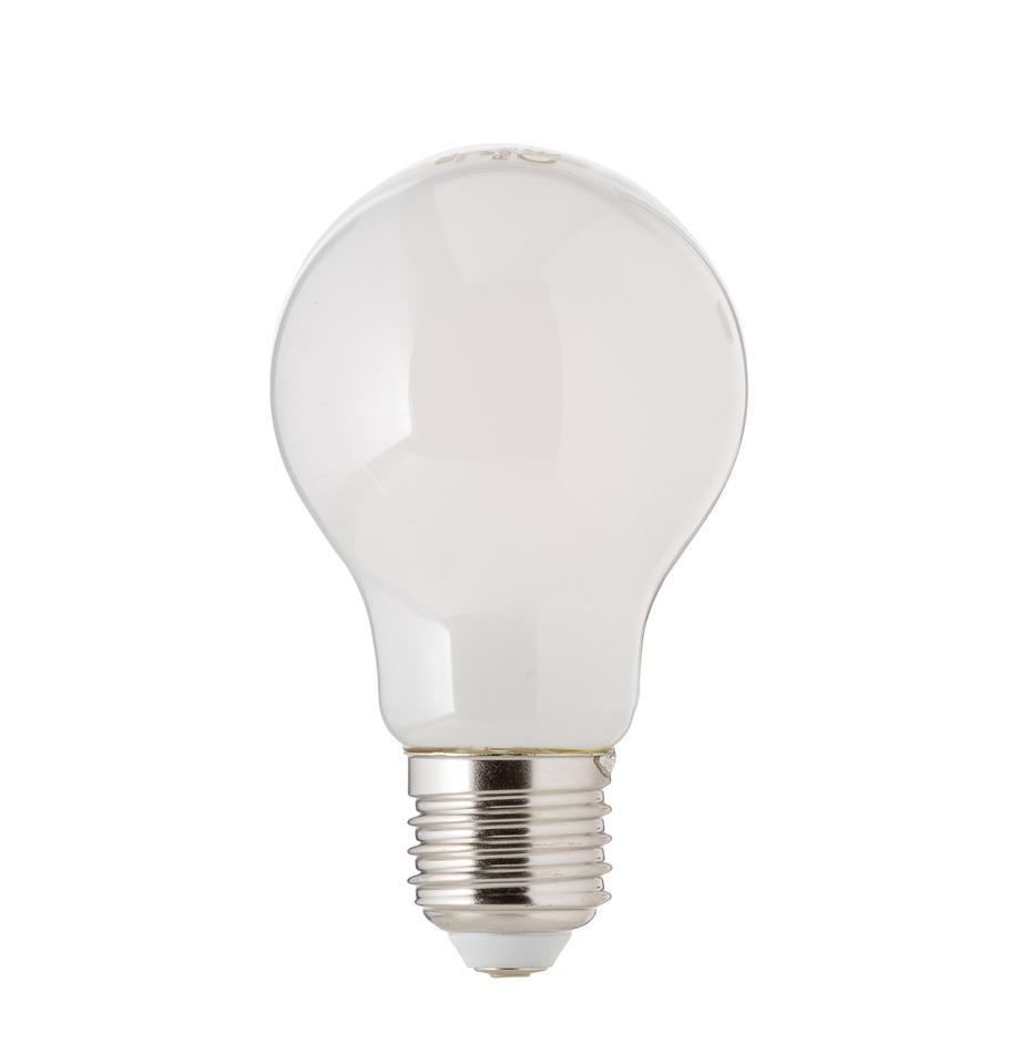 E27 Leuchtmittel, 8W, dimmbar, warmweiß, 1 Stück, Leuchtmittelschirm: Kunststoff, Leuchtmittelfassung: Aluminium, Weiß, Ø 8 x H 10 cm