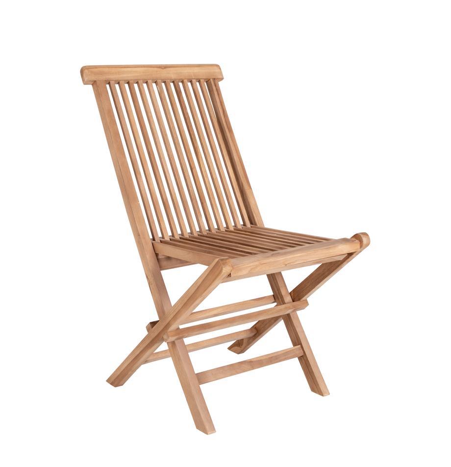 Składane krzesło ogrodowe Toledo, 2 szt., Drewno tekowe, Drewno tekowe, S 46 x G 62 cm