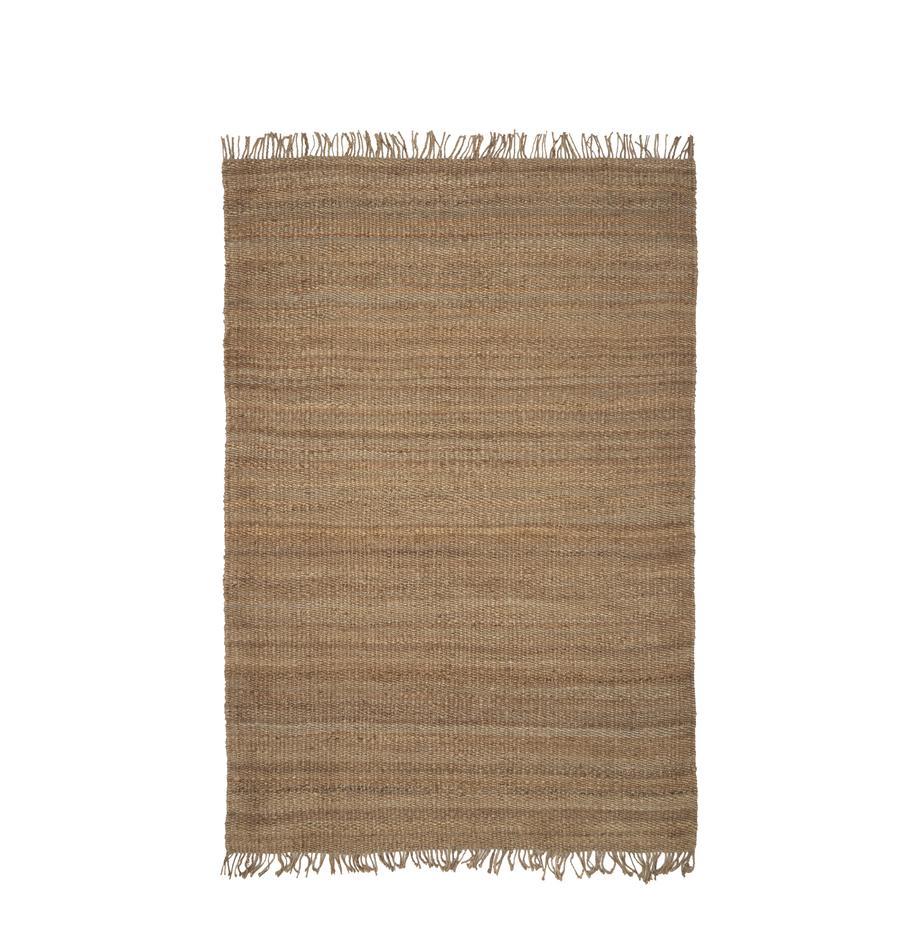 Tappeto in juta con frange taftato a mano Naturals, 100% juta, Juta, Larg. 200 x Lung. 300 cm (taglia L)