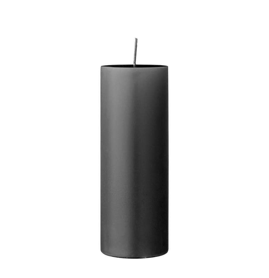 Vela pilar Lulu, Cera, Gris, Ø 7 x Al 20 cm