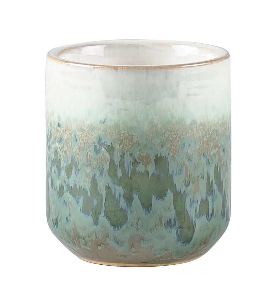 Duftkerze Green Meadow (Kaktusblüte), Behälter: Keramik, Grün, Ø 7 x H 8 cm