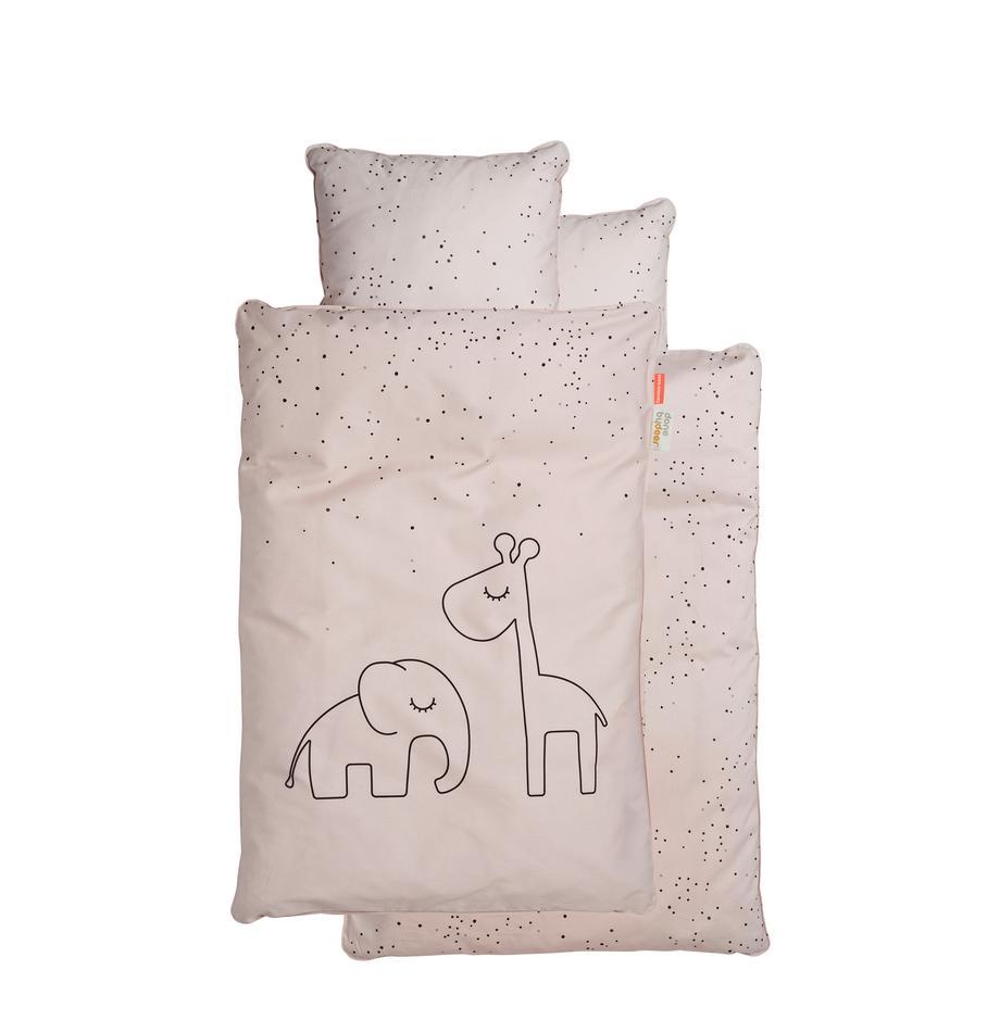Bettwäsche Dreamy Dots, 100% Baumwolle, Oeko-Tex zertifiziert, Rosa, 100 x 140 cm + 1 Kissen 40 x 60 cm