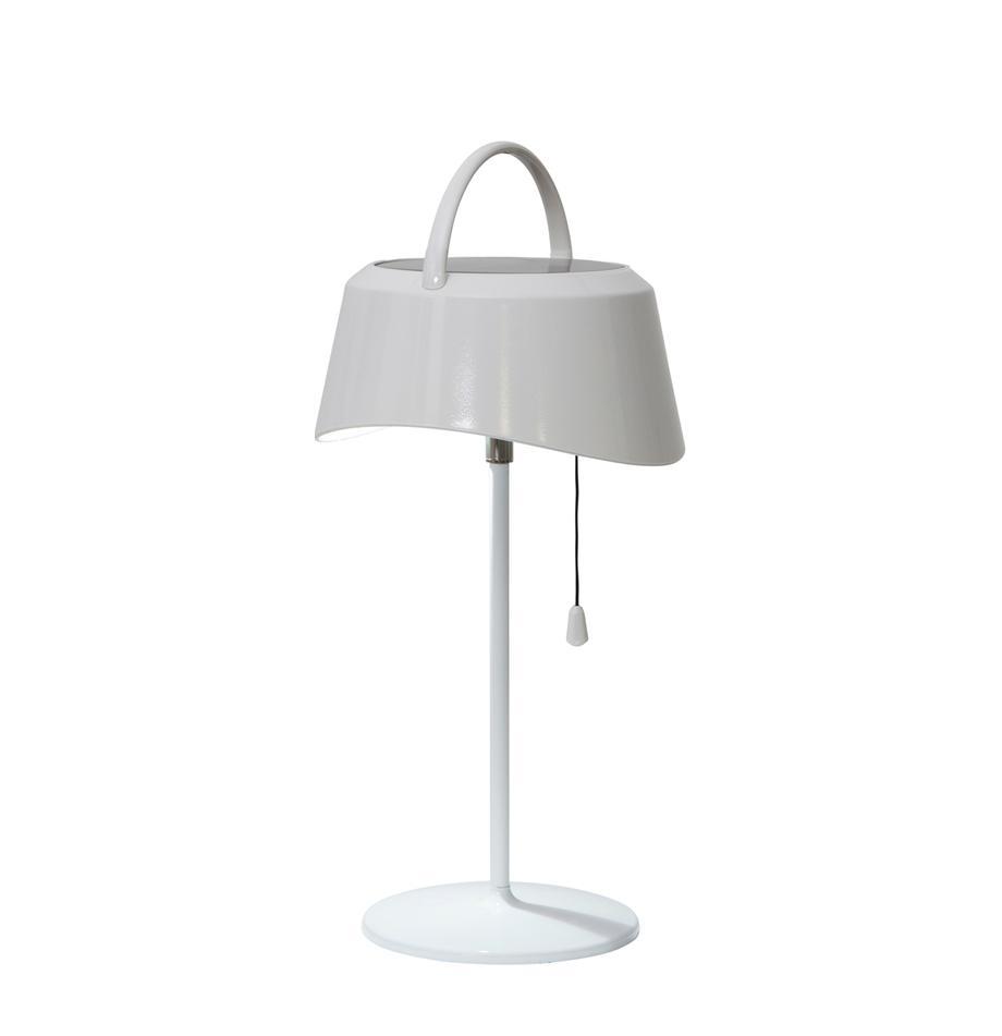 Lámpara de mesa solar para exterior Cevia, Pantalla: plástico, Blanco, L 18 x Al 36 cm