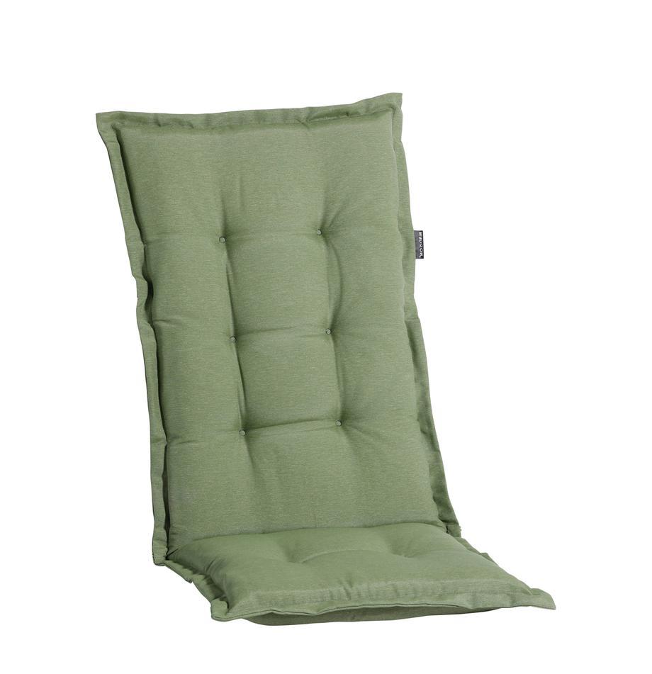Nakładka na siedzisko z oparciem Panama, 50% bawełna, 45% poliester, 5% inne włókna, Szałwiowy zielony, S 50 x D 123 cm