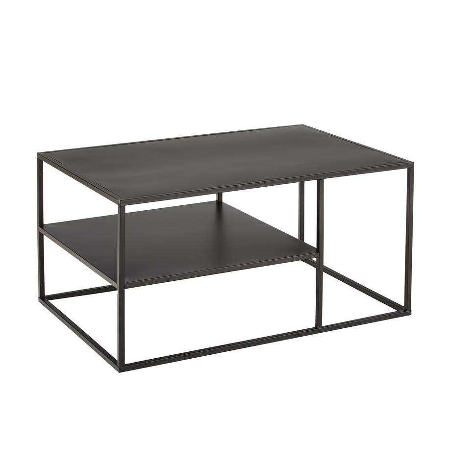 Stolik kawowy z metalu Newton, Metal malowany proszkowo, Czarny, S 90 x W 45 cm