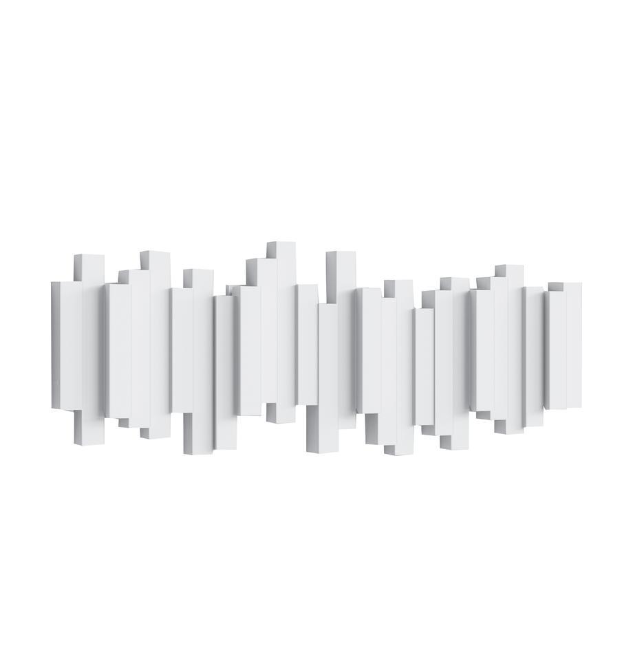 Ganci appendiabiti Sticks, Materiale sintetico, Bianco, Larg. 48 x Alt. 18 cm