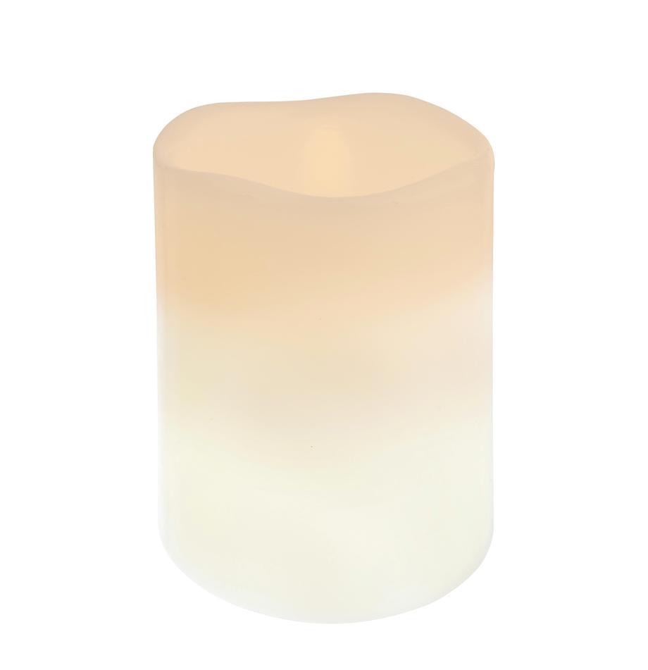 Candela a LED Nadla, Esterno: paraffina, Interno: polipropilene, Beige, bianco, Ø 8 x Alt. 10 cm