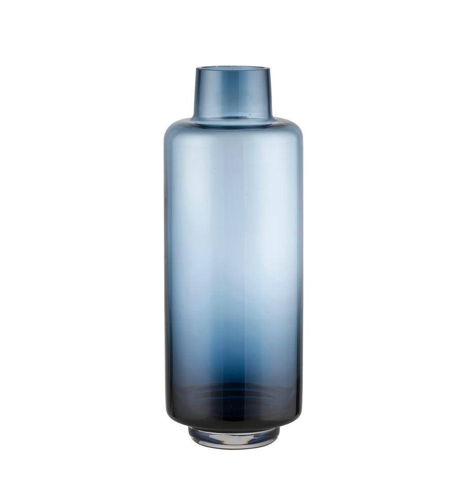Große mundgeblasene Vase Hedria, Glas, Blau, Ø 11 x H 30 cm