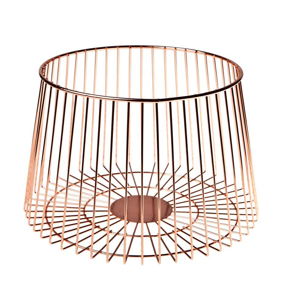 Opbergmand Basket, koperkleurig, Gecoat edelstaal, Koperkleurig, Ø 24 x H 16 cm