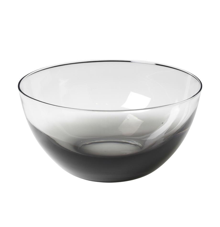 Mundgeblasene Schüssel Smoke, Ø 25 cm, Glas, Rauchgrau, transparent, Ø 25 x H 12 cm