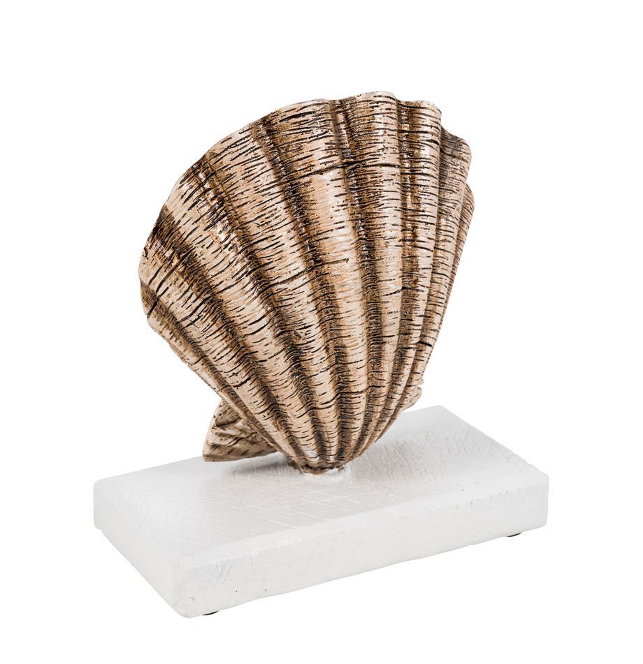 Deko-Objekt Adore, Polyresin, Beige, Weiß, 16 x 18 cm