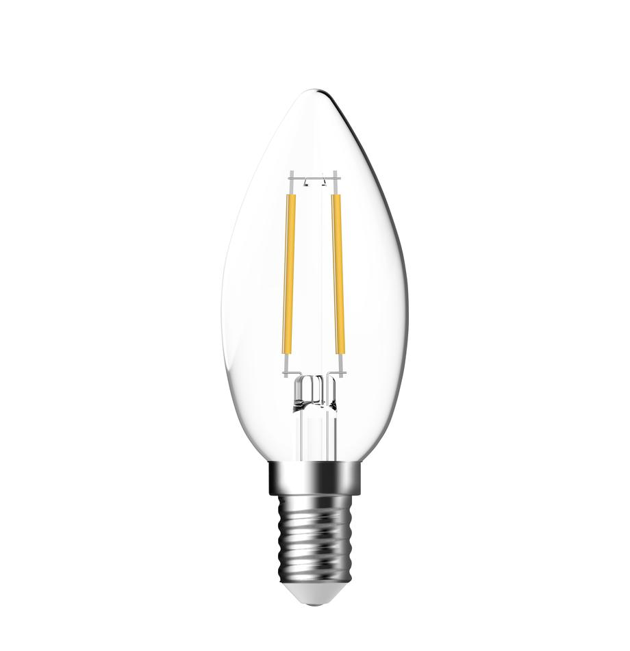 E14 Leuchtmittel, 2.5W, warmweiss, 6 Stück, Leuchtmittelschirm: Glas, Leuchtmittelfassung: Aluminium, Transparent, Ø 4 x H 10 cm