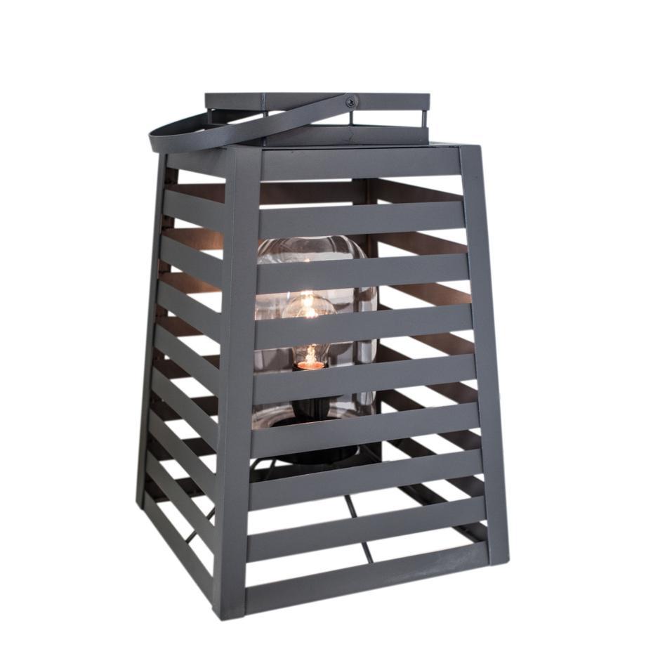 Lámpara de pie para exterior Yankton, Lámpara: metal, pintura en polvo, Gris, An 30 x Al 60 cm
