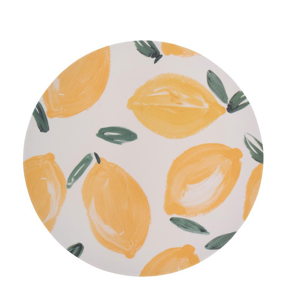 Bambus-Speiseteller Sicilian Summer, 4 Stück, Bambusfasern, Beige, Gelb, Ø 25 cm