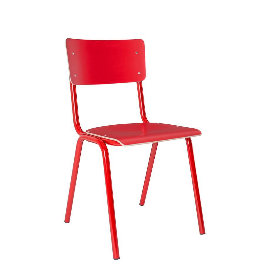 Krzesło Back to School, Nogi: metal malowany proszkowo, Czerwony, S 43 x G 49 cm