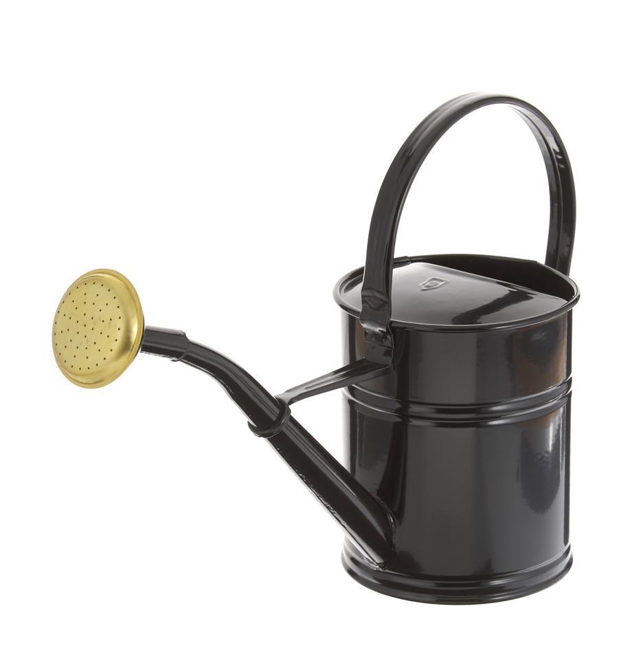 Gieter Granny, Gelakt metaal, Zwart, messingkleurig, 13 x 25 cm