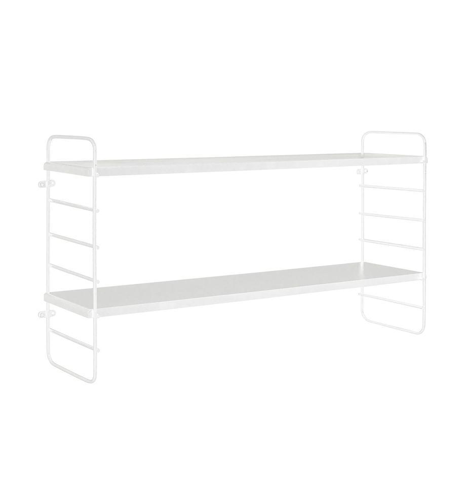 Mała półka ścienna z drewna i metalu North, Biały, S 65 x W 35 cm