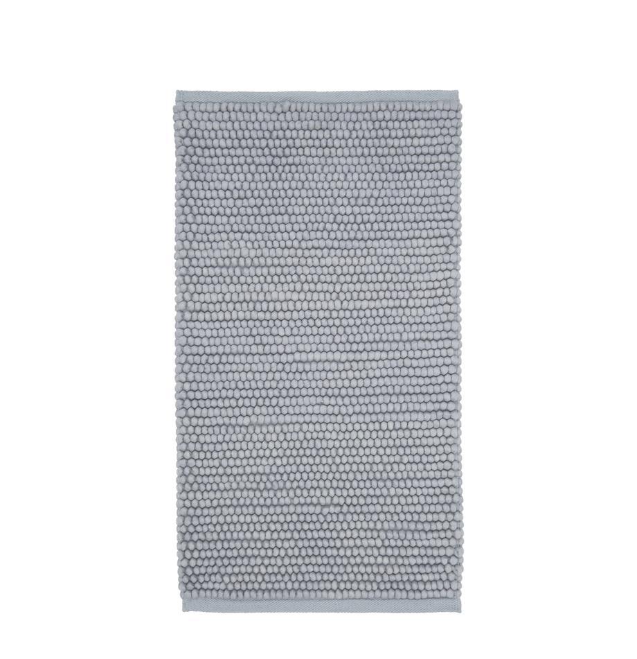 Wollteppich Pebble in Hellgrau, 80% Neuseeländische Wolle, 20% Nylon, Grau, B 80 x L 150 cm (Größe XS)