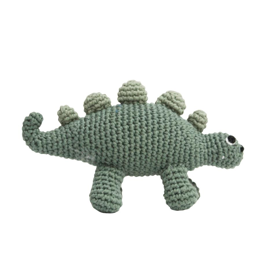Rasseltier Dinko, Bezug: Baumwolle, Grün, 16 x 9 cm