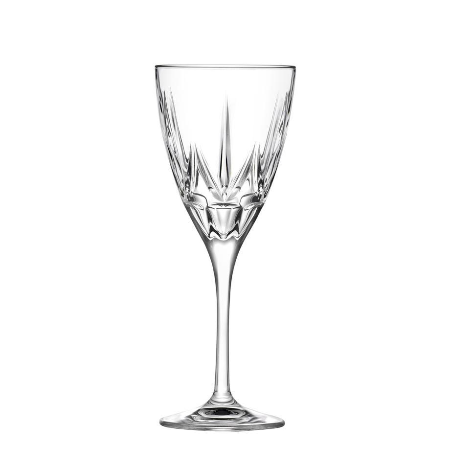 Kryształowy kieliszek do czerwonego wina Chic, 6 szt., Szkło kryształowe, Transparentny, Ø 9 x 22 cm