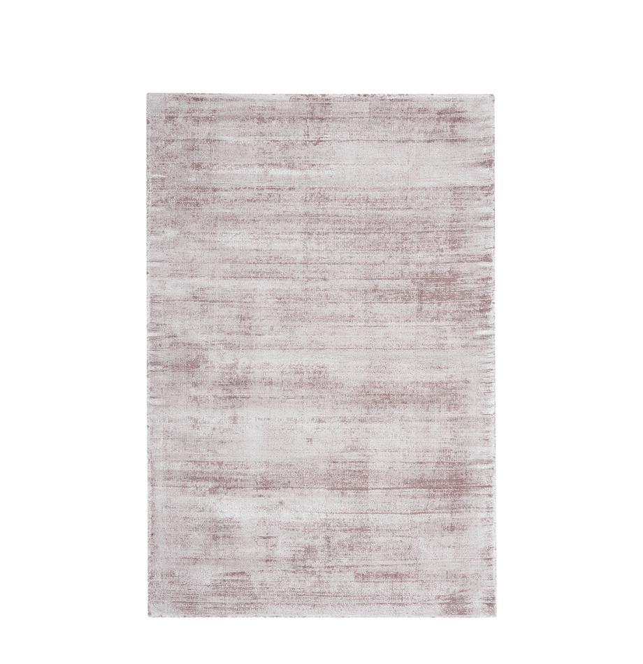 Tappeto in viscosa tessuto a mano Jane, Retro: 100% cotone, Lilla, Larg. 160 x Lung. 230 cm (taglia M)