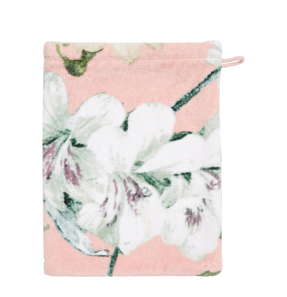 Myjka Rosalee, Bawełna, Blady różowy, biały, zielony, S 16 x D 22 cm
