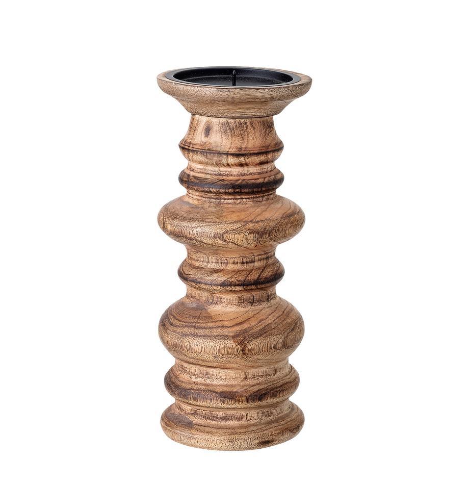 Kandelaar Stili, Mangohout, Bruin, Ø 10 x H 25 cm