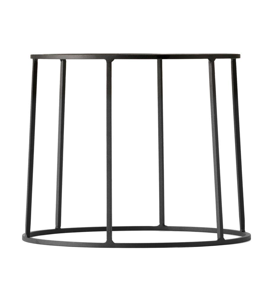 Pflanztopfständer Wire Base aus Stahl, Stahl, pulverbeschichtet, Schwarz, Ø 23 x H 20 cm