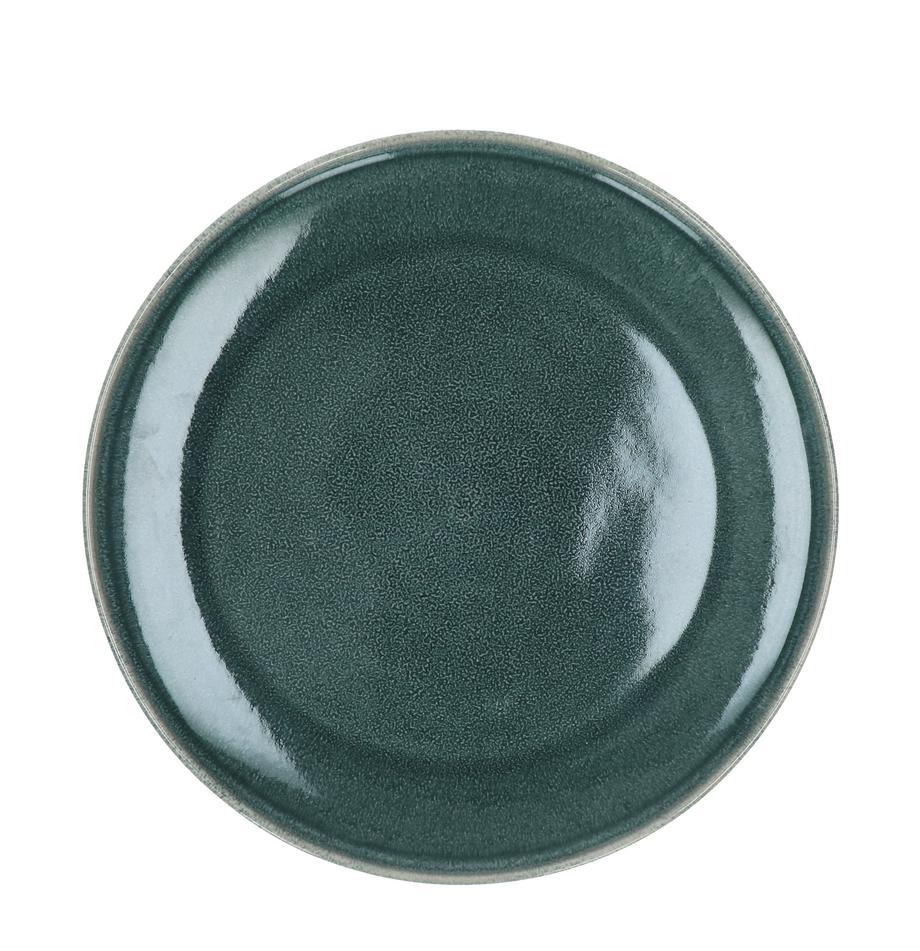Dinerborden Audrey, 2 stuks, Keramiek, Grijsgroen, Ø 28 cm
