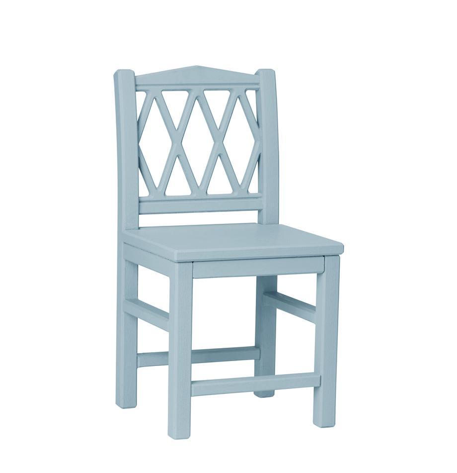 Kinderstoel Harlequin, Gelakt MDF, Blauw, 30 x 58 cm