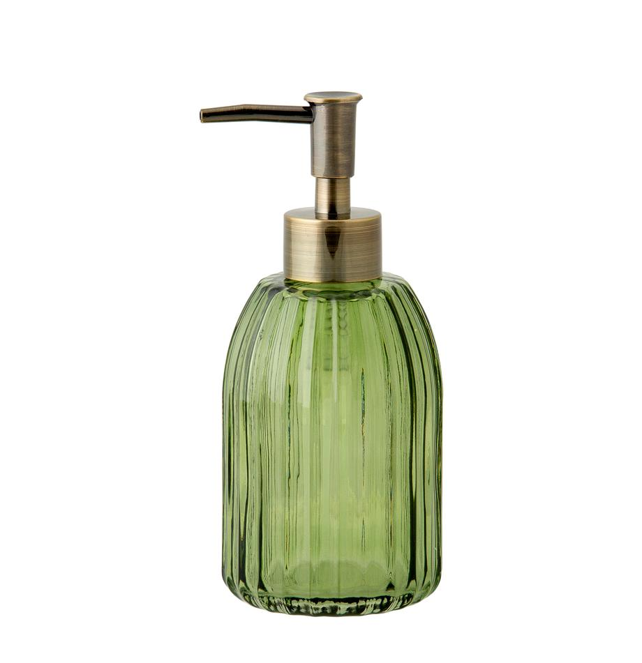 Seifenspender Aldgate, Behälter: Glas, Pumpkopf: Kunststoff, Grün, Ø 7 x H 17 cm