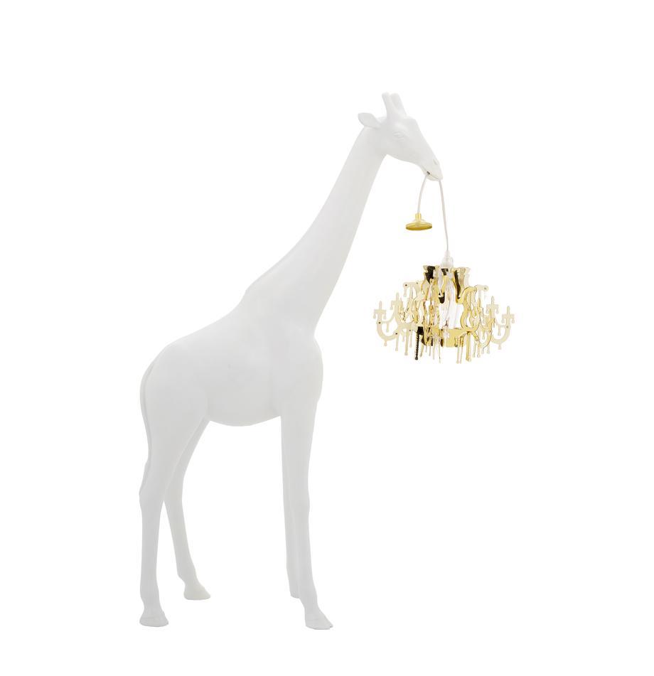 Design Bodenleuchte Giraffe in Love, Lampenschirm: Kunststoff, Weiss, Goldfarben, 60 x 100 cm