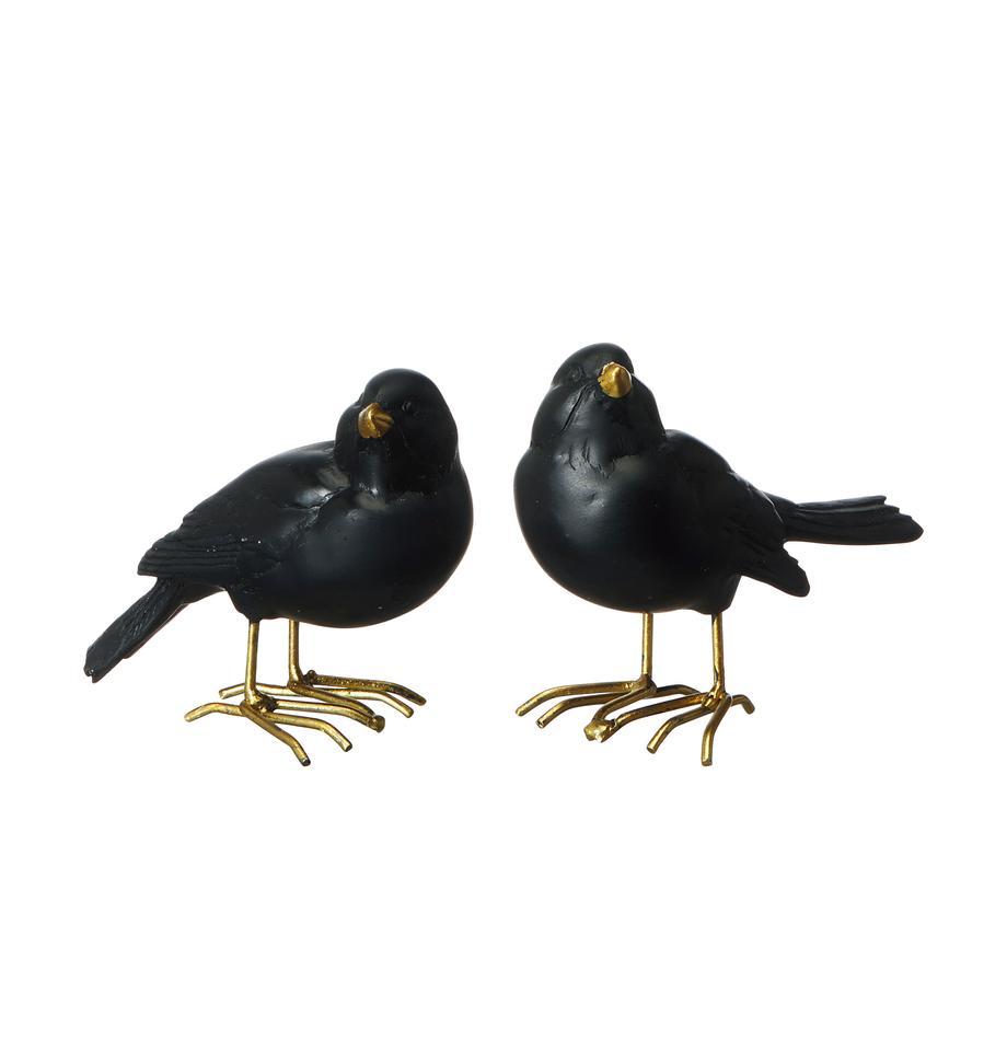 Decoratieve objectenset Not A Bagel, 2-delig, Polyresin, gelakt, Zwart, 9 x 7 cm